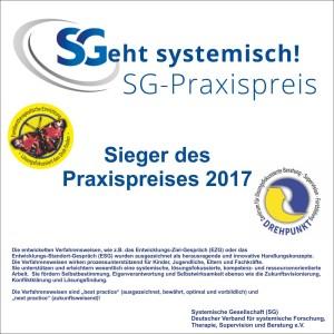 SG-Praxispreis Schild 22 x 22